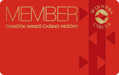 Chinook winds casino gaming bingo player cards resort casino slough